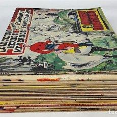 Tebeos: EL HOMBRE ENMASCARADO Y FLASH GORDON. 40 EJEMPLARES. EDIT. DÓLAR. MADRID. 1958.. Lote 138036122