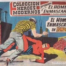 Tebeos: EL HOMBRE ENMASCARADO Nº 11: EL HOMBRE ENMASCARADO EN LONDRES- COL. HEROES MODERNOS - AÑOS 50.. Lote 138900242