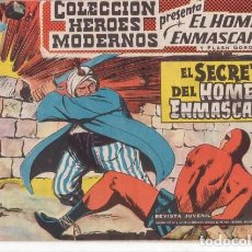 Tebeos: EL HOMBRE ENMASCARADO Nº 5: EL SECRETO DEL HOMBRE ENMASCARADO - COL. HEROES MODERNOS - AÑOS 50.. Lote 138901026