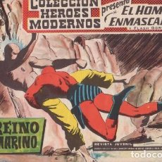 Tebeos: EL HOMBRE ENMASCARADO Nº 3: EL REINO SUBMARINO - ORIGINAL - COL. HEROES MODERNOS - AÑOS 50.. Lote 138901750