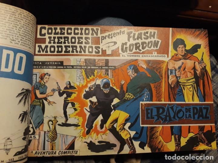 Tebeos: FLASH GORDON COLECCIÓN COMPLETA, AÑO 58, 70 Nos. ENCUADERNADA EN 2 TOMOS - Foto 4 - 140928126