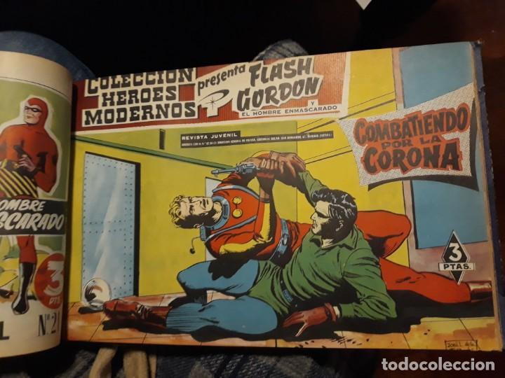 Tebeos: FLASH GORDON COLECCIÓN COMPLETA, AÑO 58, 70 Nos. ENCUADERNADA EN 2 TOMOS - Foto 5 - 140928126