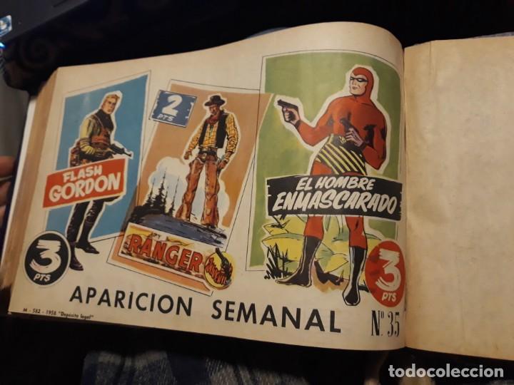Tebeos: FLASH GORDON COLECCIÓN COMPLETA, AÑO 58, 70 Nos. ENCUADERNADA EN 2 TOMOS - Foto 6 - 140928126