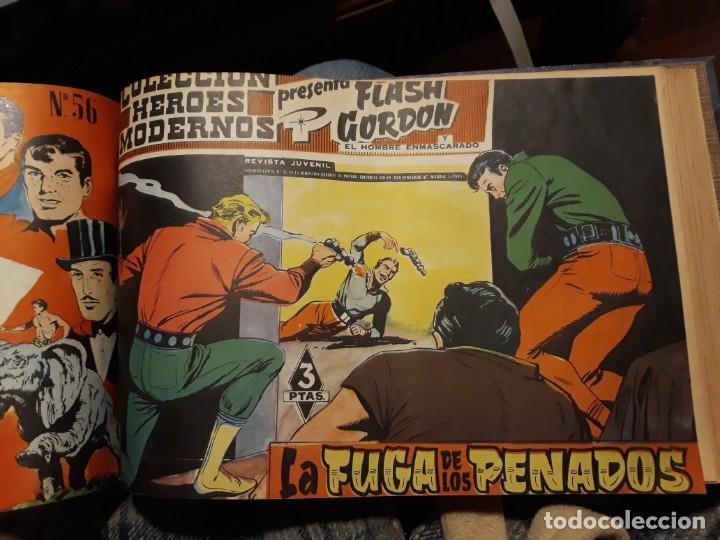 Tebeos: FLASH GORDON COLECCIÓN COMPLETA, AÑO 58, 70 Nos. ENCUADERNADA EN 2 TOMOS - Foto 9 - 140928126