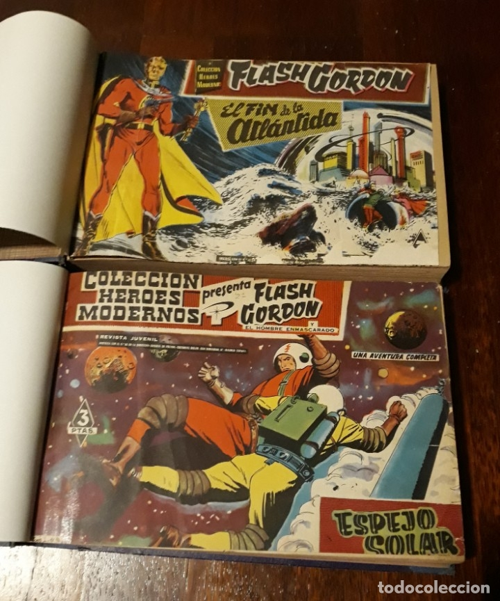 FLASH GORDON COLECCIÓN COMPLETA, AÑO 58, 70 NOS. ENCUADERNADA EN 2 TOMOS (Tebeos y Comics - Dólar)