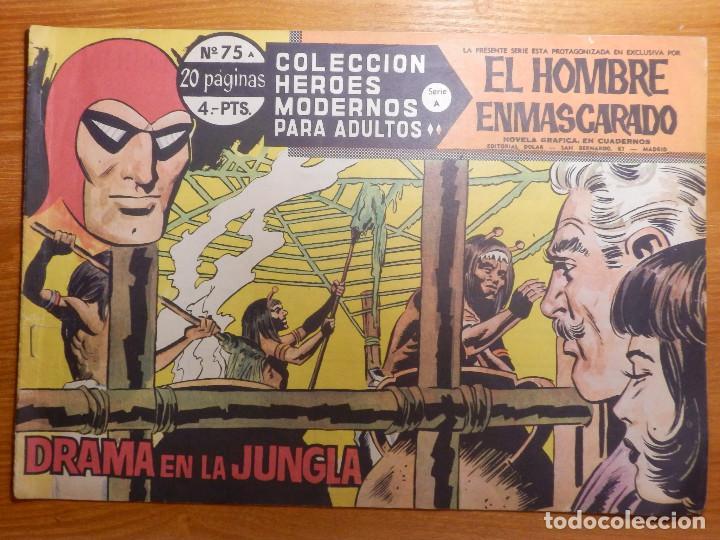 COMIC - TEBEO - EL HOMBRE ENMASCARADO - Nº 75 - DRAMA EN LA JUNGLA - DOLAR (Tebeos y Comics - Dólar)