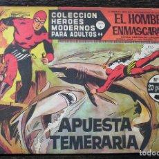 Giornalini: EL HOMBRE ENMASCARADO - HÉROES MODERNOS - Nº 51: APUESTA TEMERARIA. Lote 142922014