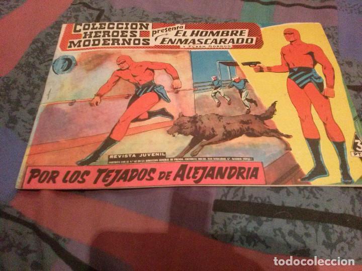 EL HOMBRE ENMASCARADO RERIE 0 Nº 21:- POR LOS TEJADOS DE ALEJANDRÍA - COL. HEROES MODERNOS 1959 (Tebeos y Comics - Dólar)