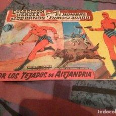 Tebeos: EL HOMBRE ENMASCARADO RERIE 0 Nº 21:- POR LOS TEJADOS DE ALEJANDRÍA - COL. HEROES MODERNOS 1959. Lote 144827370