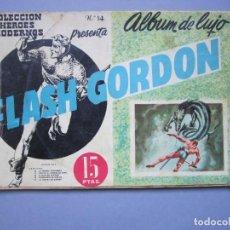 Tebeos: FLASH GORDON (1961, DOLAR) -ALBUM DE LUJO- 14 · II-1962 · FLASH GORDON. Lote 145513354