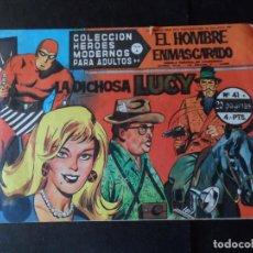 Tebeos: EL HOMBRE ENMASCARADO HEROES MODERNOS DOLAR SERIE A Nº 41 . Lote 146161906