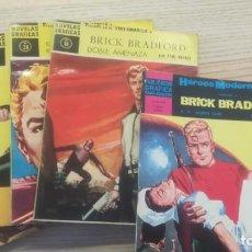 Tebeos: LOTE BRICK BRADFORD. HEROES MODERNOS SERIE AMARILLA 18,28,38,48 (1959-60) Y 8 2ªÉPOCA (1966). Lote 146427054