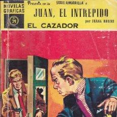 Tebeos: COMIC COLECCION NOVELAS GRAFICAS SERIE AMARILLA Nº 39 JUAN EL INTREPIDO. Lote 150766026