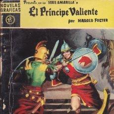 Tebeos: COMCI COLECCION NOVELAS GRAFICAS SERIE AMARILLA Nº 15 EL PRINCIPE VALIENTE. Lote 150766214