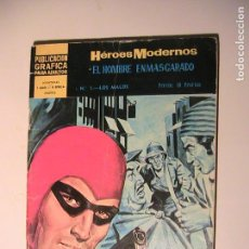 Tebeos: EL HOMBRE ENMASCARADO Nº 1 HÉROES MODERNOS. DOLAR 1966. Lote 157948990