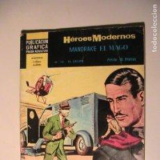 Tebeos: MANDRAKE EL MAGO Nº 10. HÉROES MODERNOS. DÓLAR, 1960.. Lote 157949226