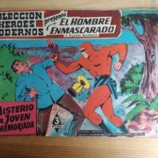 Tebeos: EL HOMBRE ENMASCARADO Y FLASH GORDON. COLECCION HEROES MODERNOS, Nº 22. EL MISTERIO DE LA JOVEN ENAM. Lote 161194350
