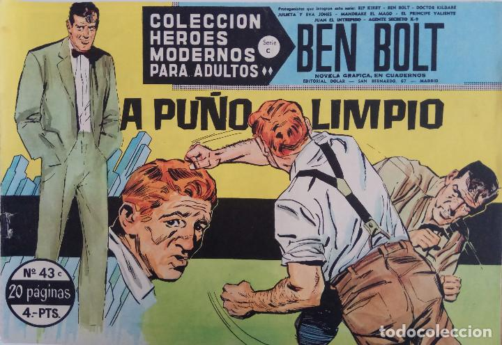 COLECCIÓN HEROES MODERNOS Nº 43 - BEN BOLT SERIE C - A PUÑO LIMPIO (Tebeos y Comics - Dólar)