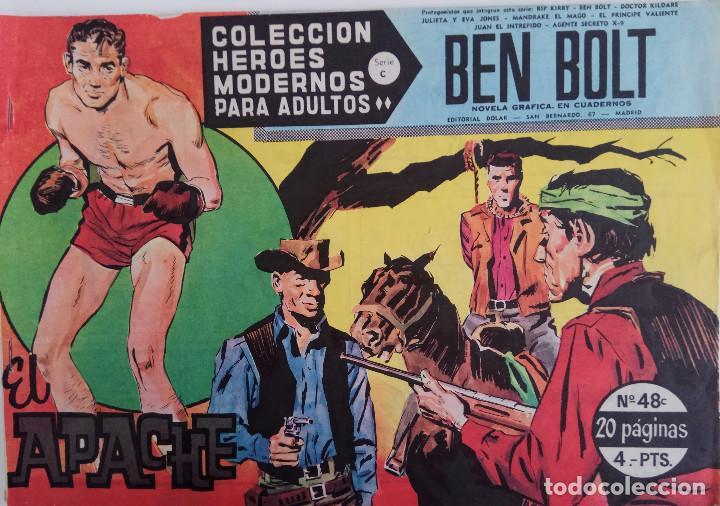 COLECCIÓN HEROES MODERNOS Nº 48 - BEN BOLT SERIE C - EL APACHE (Tebeos y Comics - Dólar)