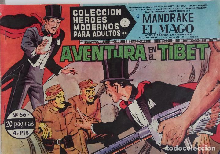 COLECCIÓN HEROES MODERNOS Nº 66 - MANDRAKE EL MAGO - SERIE C - AVENTURA EN EL TIBET (Tebeos y Comics - Dólar)