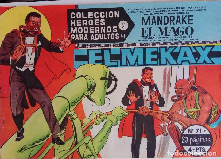 COLECCIÓN HEROES MODERNOS Nº 71 - MANDRAKE EL MAGO - SERIE C - EL MEKAX (Tebeos y Comics - Dólar)
