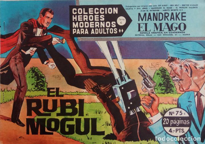 COLECCIÓN HEROES MODERNOS Nº 75 - MANDRAKE EL MAGO - SERIE C - EL RUBI MOGUL (Tebeos y Comics - Dólar)