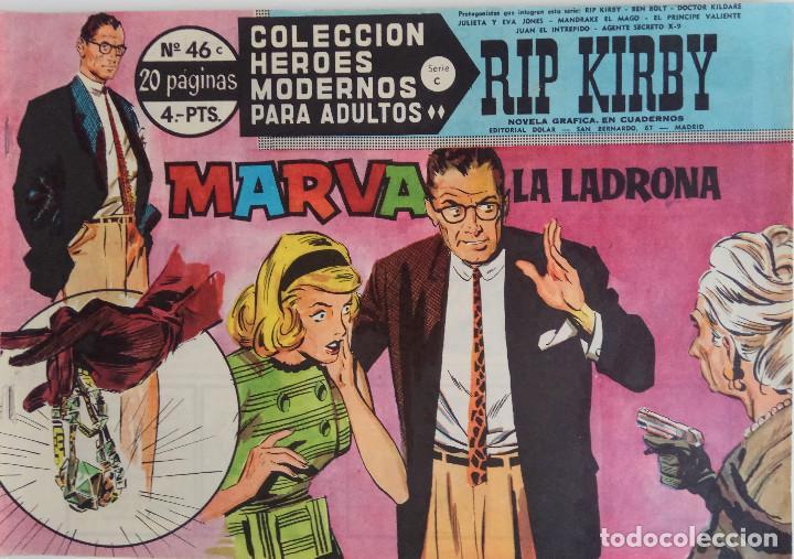COLECCIÓN HEROES MODERNOS Nº 46 - RIP KIRBY - SERIE C - MARVA, LA LADRONA (Tebeos y Comics - Dólar)