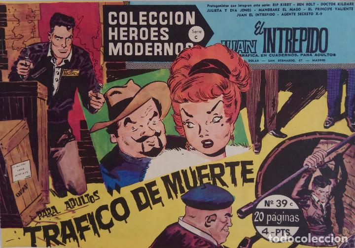 COLECCIÓN HEROES MODERNOS Nº 39 - JUAN EL INTREPIDO - SERIE C - TRAFICO DE MUERTE (Tebeos y Comics - Dólar)