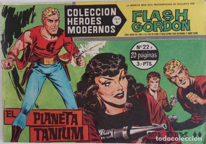 COLECCIÓN HEROES MODERNOS Nº22 - FLASH GORDON - SERIE B - EL PLANETA TANIUM (Tebeos y Comics - Dólar)