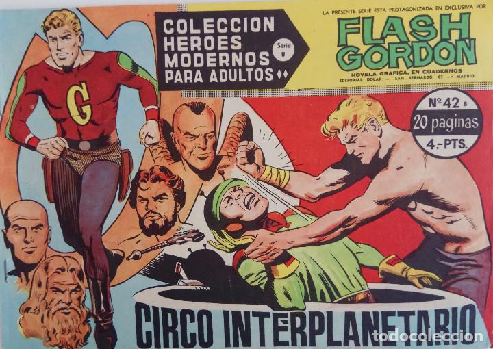 COLECCIÓN HEROES MODERNOS Nº 42 - FLASH GORDON - SERIE B - CIRCO INTERPLANETRIO (Tebeos y Comics - Dólar)