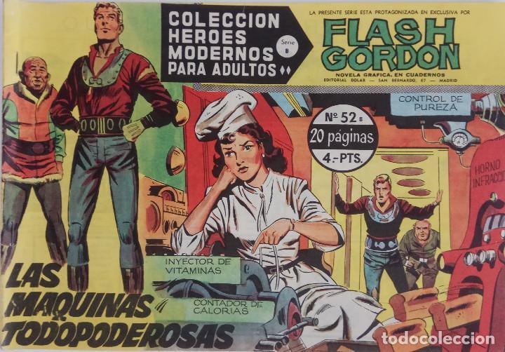 COLECCIÓN HEROES MODERNOS Nº 52 - FLASH GORDON - SERIE B - LAS MAQUINAS TODOPODEROSAS (Tebeos y Comics - Dólar)