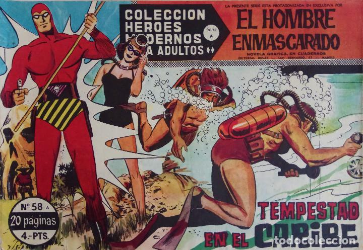 COLECCIÓN HEROES MODERNOS Nº 58 - EL HOMBRE ENMASCARADO - SERIE A - TEMPESTAD EN EL CARIBE (Tebeos y Comics - Dólar)