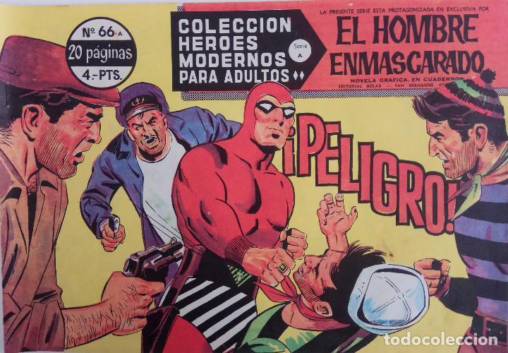 COLECCIÓN HEROES MODERNOS Nº 66 - EL HOMBRE ENMASCARADO - SERIE A - ¡PELIGRO! (Tebeos y Comics - Dólar)