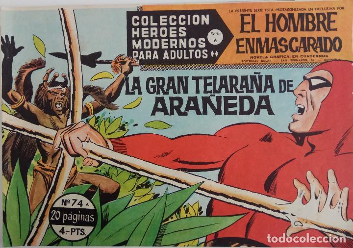 COLECCIÓN HEROES MODERNOS Nº 74 - EL HOMBRE ENMASCARADO - SERIE A - LA GRAN TELARAÑA DE ARAÑEDA (Tebeos y Comics - Dólar)