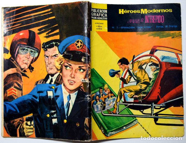 HÉROES MODERNOS Nº 7 - JUAN EL INTRÉPIDO - OPERACIÓN SAN VITOS - AÑO 1960 (Tebeos y Comics - Dólar)