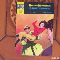 Tebeos: HEROES MODERNOS - EL HOMBRE ENMASCARADO. Nº 34.. Lote 172688887