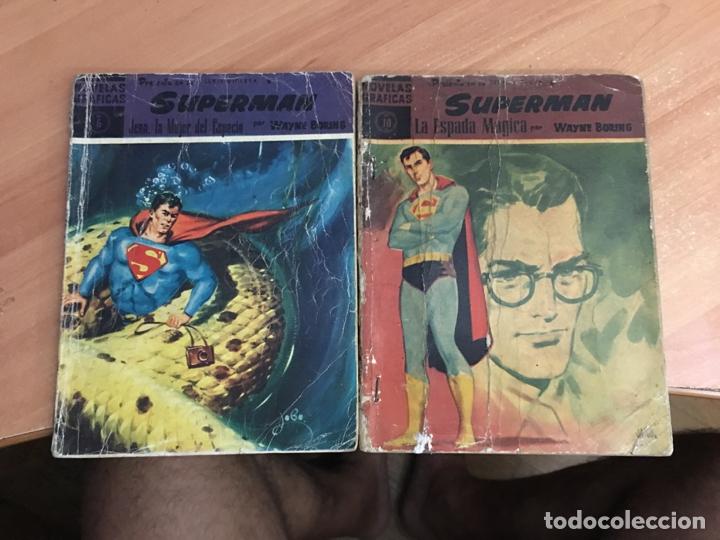SUPERMAN LOTE Nº 6 Y 10 (ORIGINAL DOLAR) (COIB26) (Tebeos y Comics - Dólar)