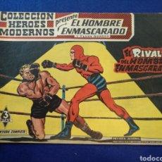 Tebeos: COLECCIÓN HÉROES MODERNOS, EL HOMBRE ENMASCARADO, N°21. 1958. Lote 176577762
