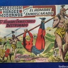 Tebeos: COLECCIÓN HÉROES MODERNOS, EL HOMBRE ENMASCARADO, N°26. 1958. Lote 176582724