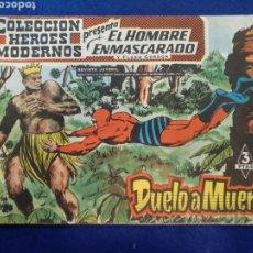 Tebeos: COLECCIÓN HÉROES MODERNOS, EL HOMBRE ENMASCARADO, N°27. 1958. Lote 176584727