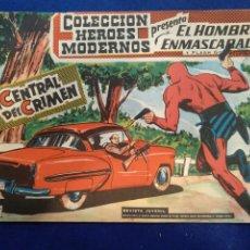Tebeos: COLECCIÓN HÉROES MODERNOS, EL HOMBRE ENMASCARADO, N°34. 1958. Lote 176587402