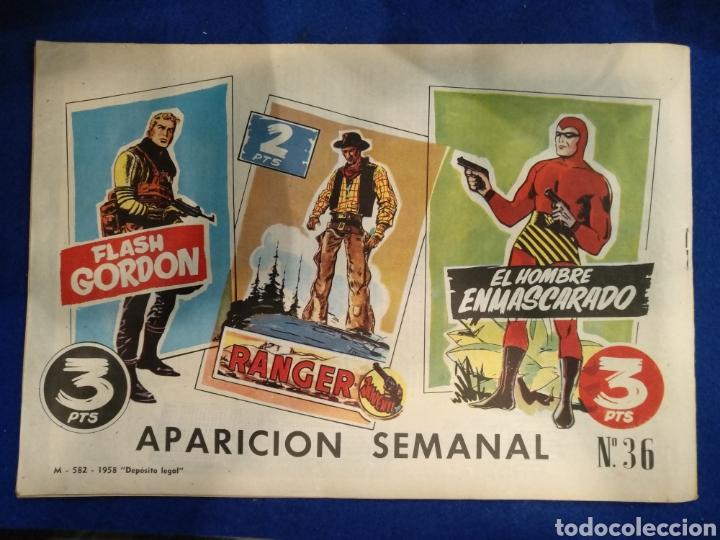 Tebeos: Colección héroes modernos, el hombre enmascarado, n°36. 1958 - Foto 2 - 176588724