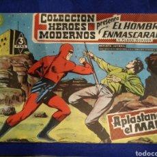 Tebeos: COLECCIÓN HÉROES MODERNOS, EL HOMBRE ENMASCARADO, N°36. 1958. Lote 176588724