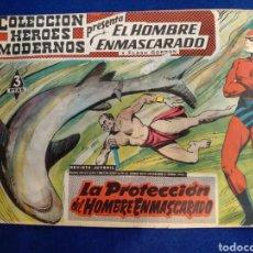 Tebeos: COLECCIÓN HÉROES MODERNOS, EL HOMBRE ENMASCARADO, N°37. 1958. Lote 176686639