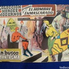 Tebeos: COLECCIÓN HÉROES MODERNOS, EL HOMBRE ENMASCARADO, N°39. 1958. Lote 176687983