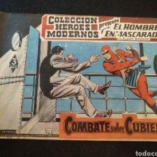 Tebeos: COLECCIÓN HÉROES MODERNOS, EL HOMBRE ENMASCARADO, N°42. 1958. Lote 176766593