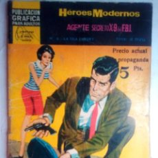 Tebeos: HÉROES MODERNOS-NOVELAS GRÁFICAS-II ÉPOCA- Nº 6 -AGENTE X-9 DEL FBI- MUY ESCASO-REGULAR-1966-2410. Lote 184056632