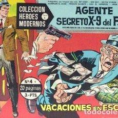 Tebeos: HÉROES MODERNOS-1964-Nº 4 -AGENTE SECRETO X-9-VACACIONES EN ESCOCIA-CUADERNILLO GIGANTE-DIFÍCIL-2508. Lote 187189621