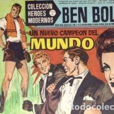 Tebeos: HÉROES MODERNOS-SERIE C- Nº 9- BEN BOLT-EL NUEVO CAMPEÓN DEL MUNDO-1964-CORRECTO-DIFÍCIL-LEAN-2509. Lote 187191105
