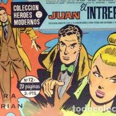 Tebeos: HÉROES MODERNOS-SERIE C- Nº 12 -JUAN EL INTRÉPIDO-PARA FLORIÁN-1964-M. BUENO-DIFÍCIL-LEAN-2510. Lote 187192091